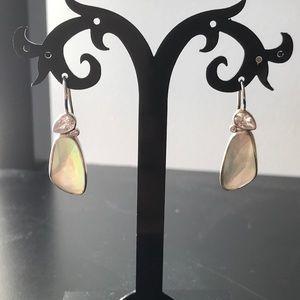 Soirée Sterling mother of pear cluster earrings